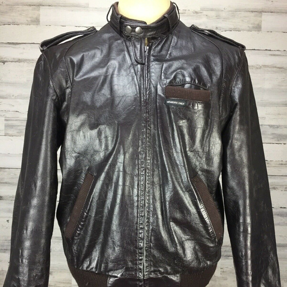 dec9fbef8 VTG 80s 40 Members Only Leather Cafe Racer Bomber